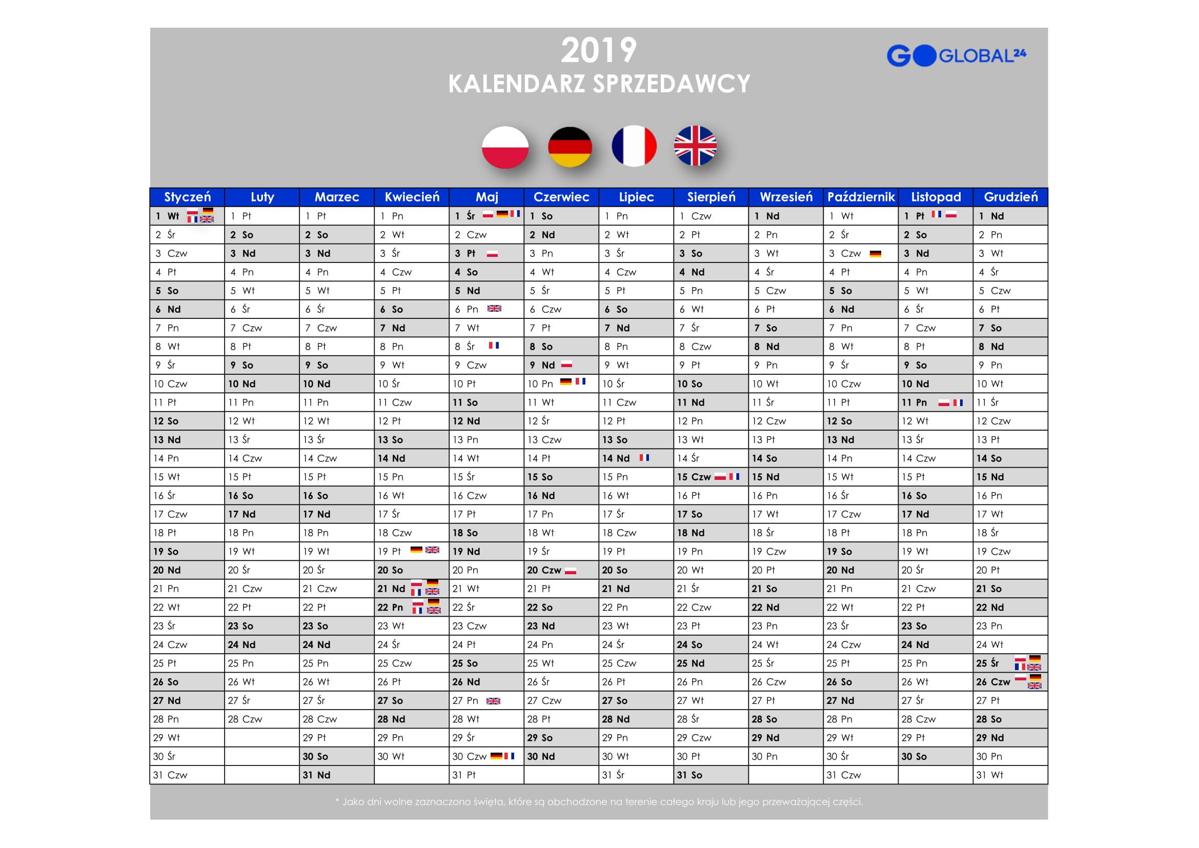 Kalendarz sprzedawcy